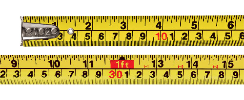 learning how to read a measuring tape