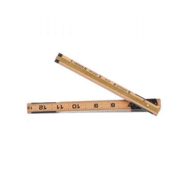 Carpenter Ruler Distressed Ruler Compact Ruler 6 sections Ruler Collapsing Ruler Folding Ruler 1 meter Ruler Wooden Ruler